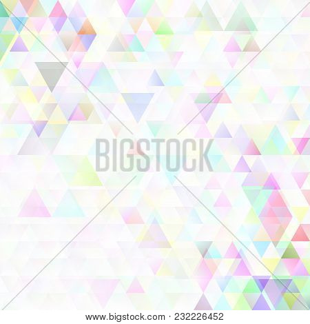 Colorful Geometric Abstract Triangle Pattern Background Design