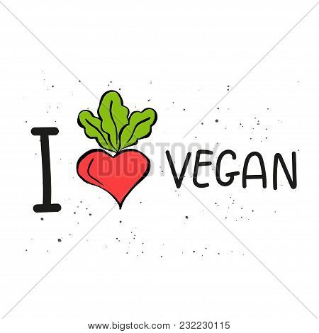 Vector Eco Badge Or Tag, Bio Green Logo. Vegan Sign For Cafe, Restaurants, Products Packaging. Hand
