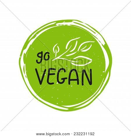 Vector Eco, Bio Green Logo Or Sign. Vegan  Healthy Food Badge, Tag For Cafe, Restaurants, Products P