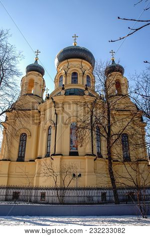 Warsaw, Poland - February 6, 2005: Polish Orthodox Metropolitan Cathedral Of The Holy And Equal To T
