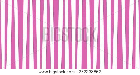 Abstract Vertical Striped Pattern. Pink And White Cute Baby Print. Background For Wallpaper, Web Pag