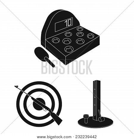 Amusement Park Black Icons In Set Collection For Design. Equipment And Attractions Vector Symbol Sto