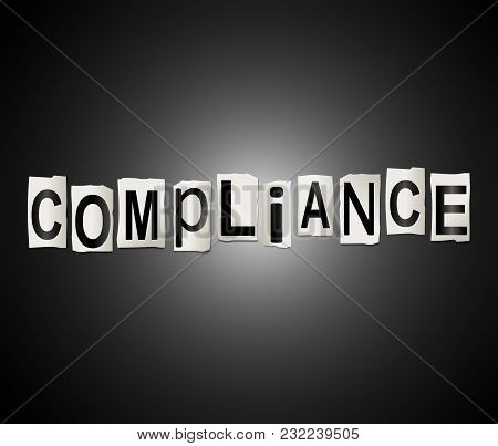 Compliance Word Concept.