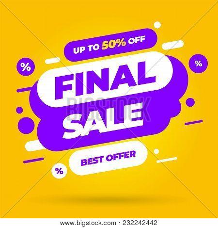 Sale Banner Template Design, Big Sale Special Offer. End Of Season Special Offer Banner. Vector Illu