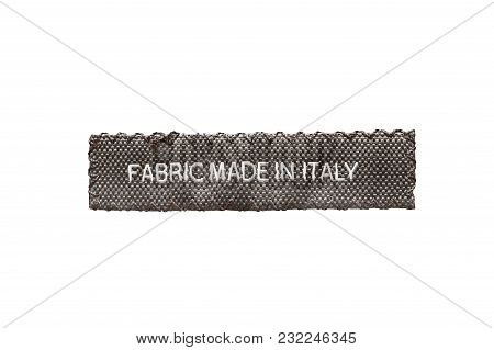 Clothes Label Lettered Made In Italy Isolated Over White