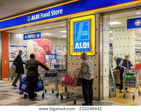 Sydney, Australia - Jun 16, 2017: Aldi Supermarket Store Located In Chatswood Westfield Centre. Aldi