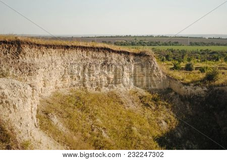 Opencast Mining Quarry. This Area Has Been Mined For Sand And Other Minerals. Restoration Of A Part