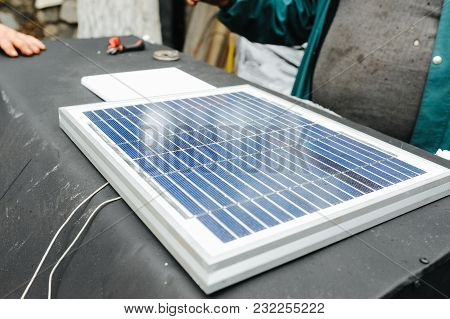 Green Energy Concept. Solar Panels. Recuperation And Clean Power. Drying Cabinet With Solar Energy