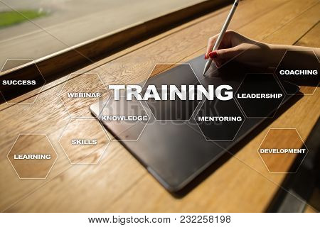 Training And Development Professional Growth. Internet And Education Concept