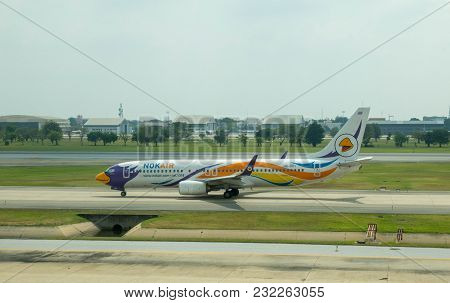 Bangkok, Thailand - 2 March 2018 : Boeing 737-800 (hs-dby) Of A Bangkok-based Domestic Low Cost Carr