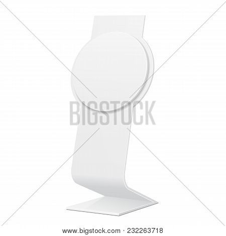 Outdoor Indoor Stander Advertising Stand Banner Shield Display, Advertising. Mock Up Products On Whi