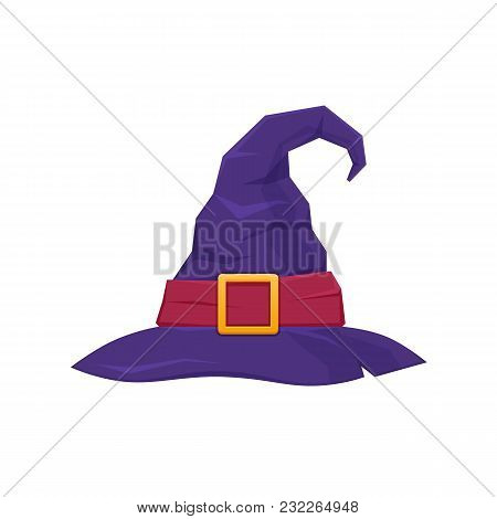 Colorful Hat Of Witch Or Wizard. Attire For Holiday Halloween, Parties, Children S Parties, Birthday