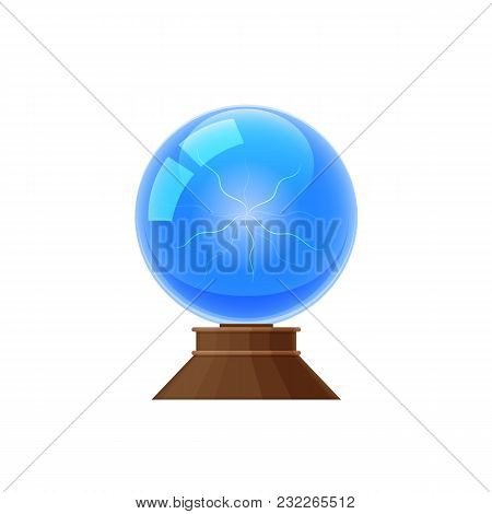 Colorful Magic Glass Sphere, Magic Mystical Energy Ball. Plasma Ball For Predictions, Divination. Di