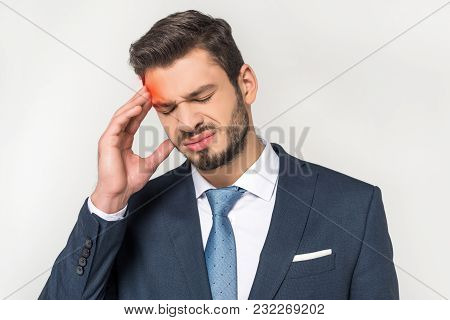 Young Businessman Holding Brain Model With Inscription All You Need Is Brain And Smiling At Camera I