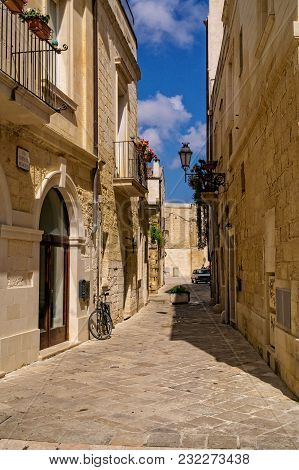 Street In The Beautiful Baroque City Of Lecce In Southern Italy