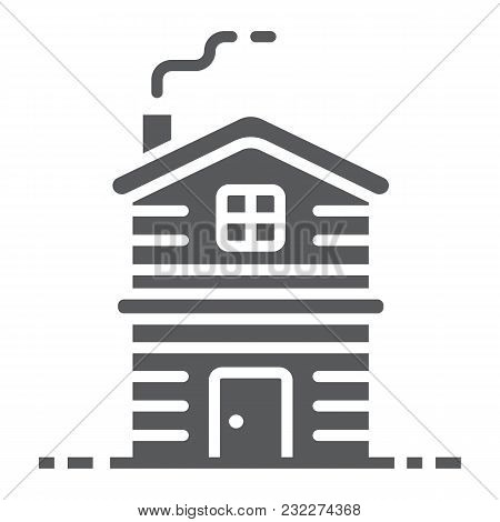 Cottage Glyph Icon, Real Estate And Home, Apartment Sign Vector Graphics, A Solid Pattern On A White