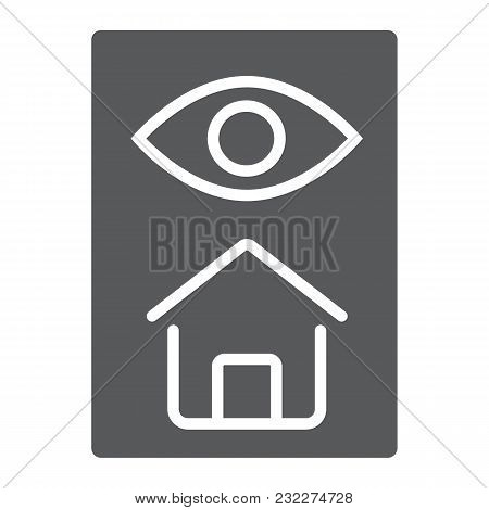 Home Inspection Glyph Icon, Real Estate And Home, Inspect Sign Vector Graphics, A Solid Pattern On A