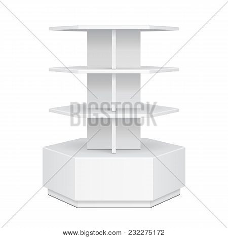 Hexagon, Hexagonal Pos Poi Cardboard Floor Display Rack For Supermarket Blank Empty Displays. Produc