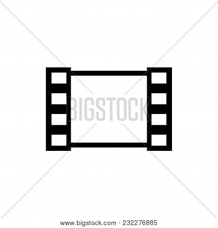 Media Film. Flat Vector Icon. Simple Black Symbol On White Background