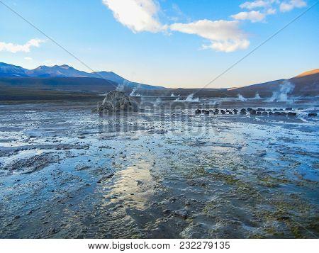 Geyser Field El Tatio Near San Pedro De Atacama Chile South America