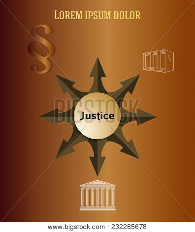 Justice Law Theme Design Element For Infographic01