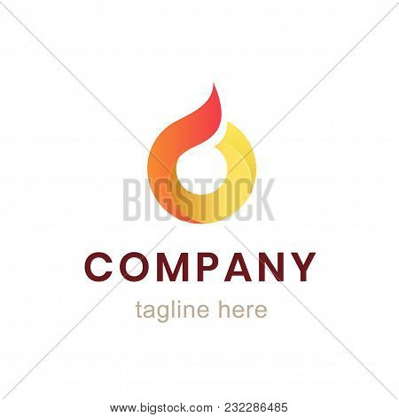Circle Company Logo Design. Element For Business Identity And Branding. Graphic Corporate Sign Isola