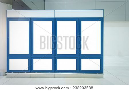 Many Frame Advertising Billboard Or Blank Showcase Light Box For Your Text Message Or Media Content