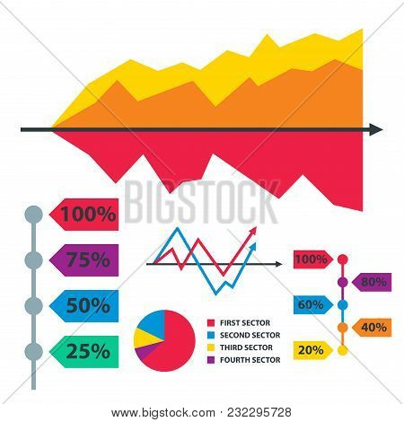 Diagram Chart Graph Elements Vector Business Infographic Flow Sheet Data Template. Presentation Info