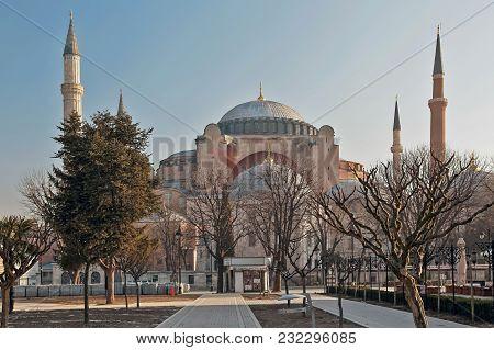 Istanbul, Turkey - March 24, 2012: Ayasofya Muzesi In Early Morning.
