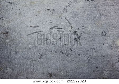 texture of old aluminum stains and scratches