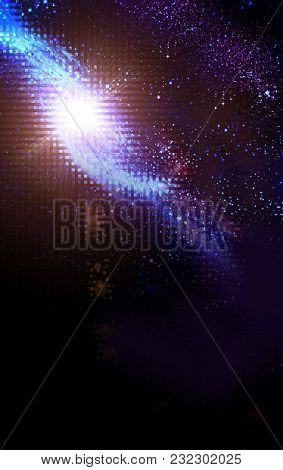 spiral galaxy in a dark space, abstract background