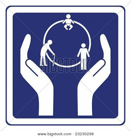 Life insurance sign vector concept