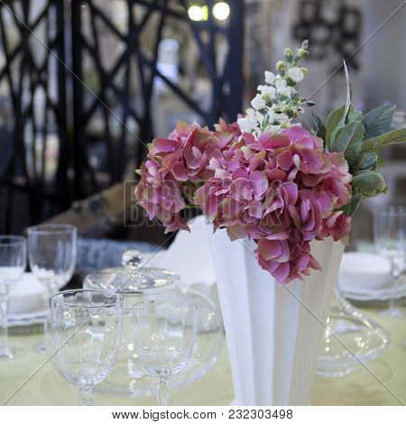 The Artificial Flower Home Decoration In Interior.