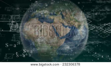A World Full Of Mathematics, Calculations. World Mathematics