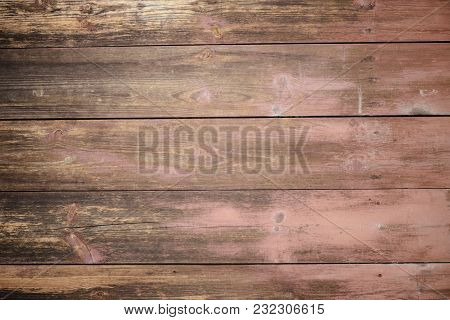 Texture Of An Old Wooden Plaque Dyed In A Cherry Blossom, A Textur For A Background