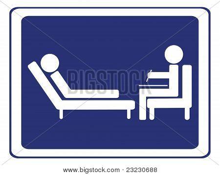 vector illustration of a psychology session sign poster