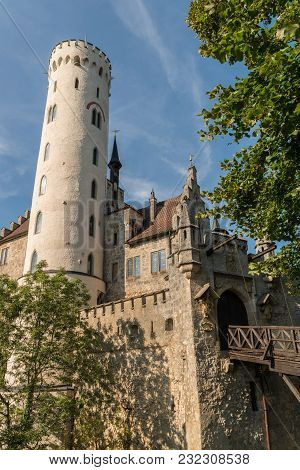 Lichtenstein Castle - Entrance Gate And Drawbridge