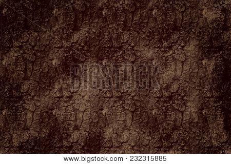 Embossed Texture Of The Bark Of Oak Brown Wood Background Dark