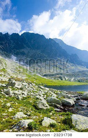 Five Spis Tarns, High Tatras (Vysoke Tatry), Slovakia poster
