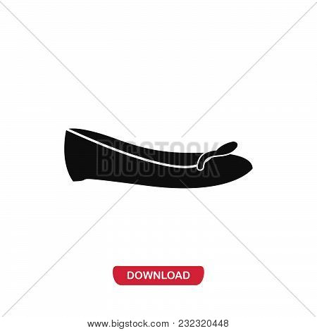 Ribbon Flats Icon Vector In Modern Flat Style For Web, Graphic And Mobile Design. Ribbon Flats Icon