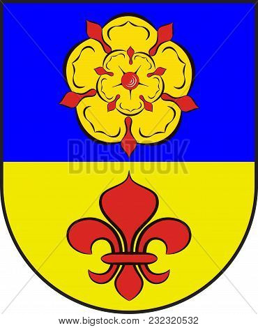 Coat Of Arms Of Kevelaer Is A Municipality In The District Of Kleve, In North Rhine-westphalia In Ge