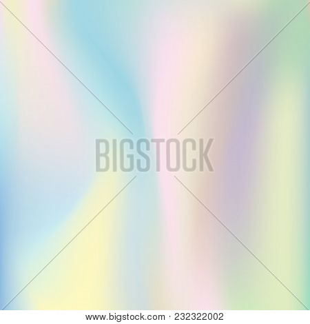 Abstract Vector  Holographic Background. Trendy Colorful  Pastel Texture  For Your Design.