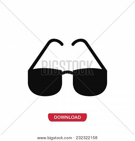 Glasses Icon Vector In Modern Flat Style For Web, Graphic And Mobile Design. Glasses Icon Vector Iso