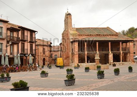 Wonderful Town Square Ayllon Cradle Of The Red Villages In Addition Of Beautiful Medieval Village In
