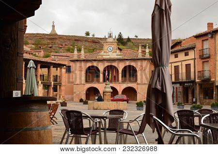 Town Hall Building In Town Square Ayllon Cradle Of Red Villages In Addition To Beautiful Medieval Vi