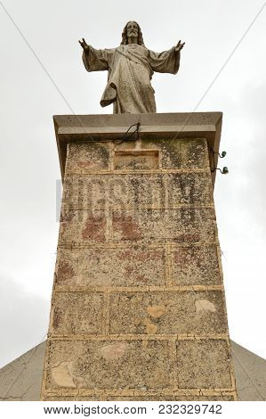 Christ In The Summit Of The Town Of Ayllon Cradle Of The Red Peoples In Addition Of Beautiful Mediev