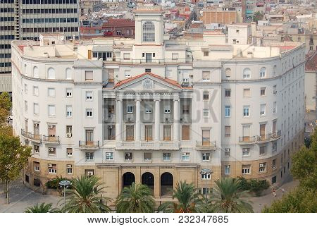 Sector Naval De Catalunya Building Photographed From The Top Of The Columbus Monument (monument A Co