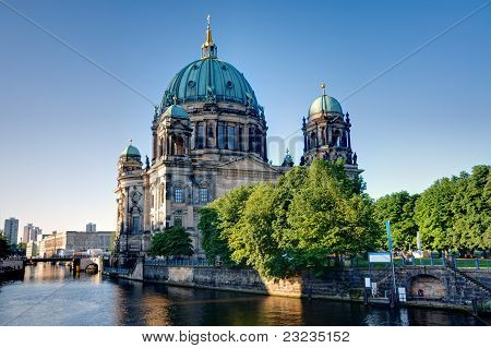 The backside of the Dom in Berlin