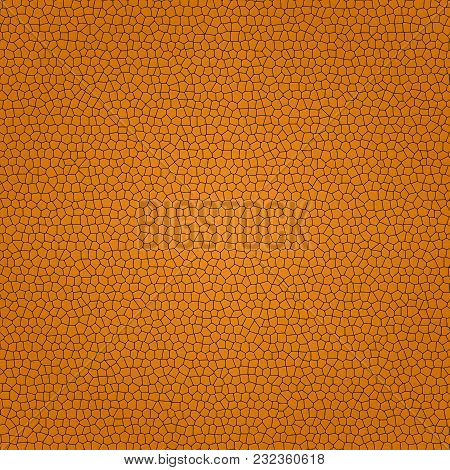 Abstract Background With Brown Bricks. Vector Illustration