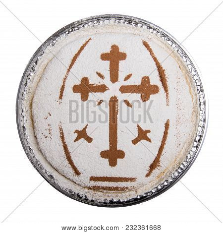 A Plate With Traditional Coliva, A Dish Based On Boiled Wheat That Is Used Liturgically In The Easte